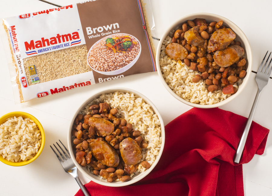 Slow Cooker Charro Beans with Rice