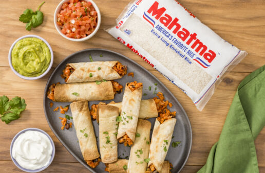 air-fryer-taquitos-filled-with-black-beans-and-white-rice