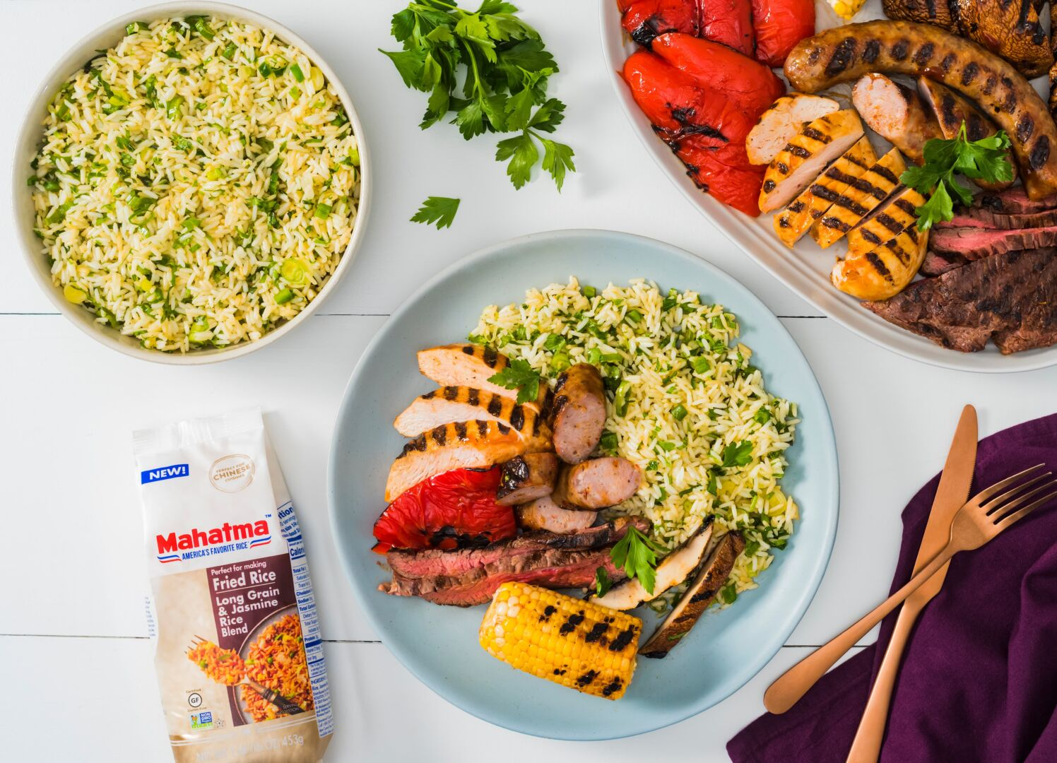 Mixed Grill with Chimichurri Rice