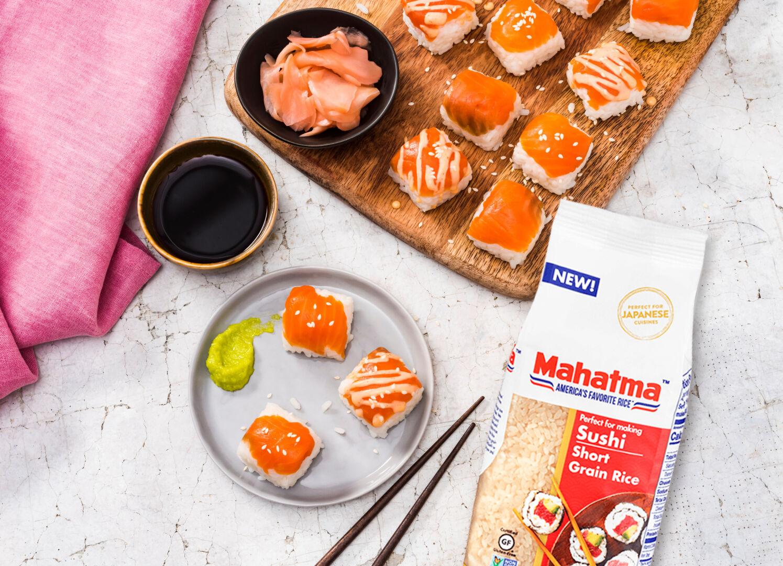 Sushi prensado con salmón