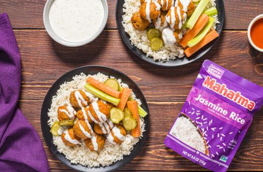 Buffalo-Chicken-Meatballs-with-Rice-Recipe