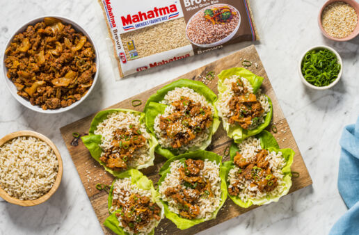 rice-beef-lettuce-wraps-with-kimchi-and-brown-rice